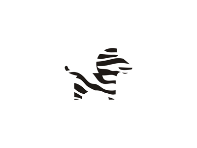 Zebra striped stripes animals truck rental and moving company logo design