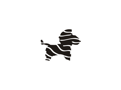 Zebra stripes animals truck rental and moving company logo design