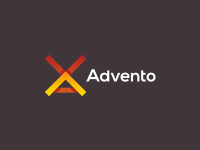 Advento in-game advertising wind mill logo design