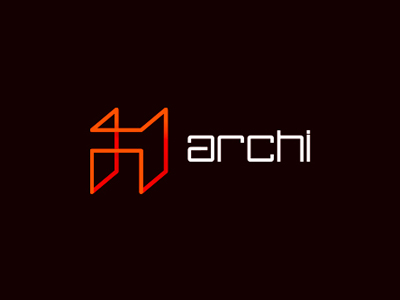 Archi architecture structure logo design