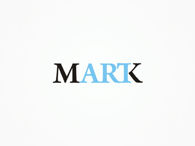 ArtMark art + mark logotype wordmark logo design