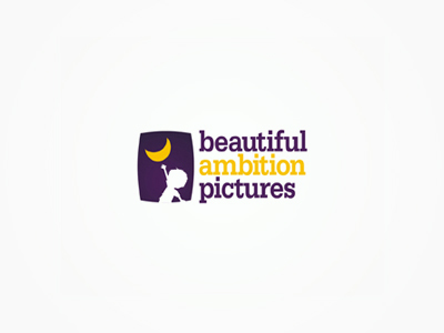 Beautiful Ambition Pictures movies child reaching out moon logo design