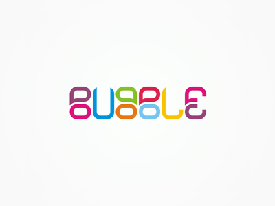 Bubble pr marketing agency logotype word mark logo design