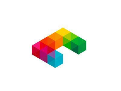 C cubes logo design symbol icon