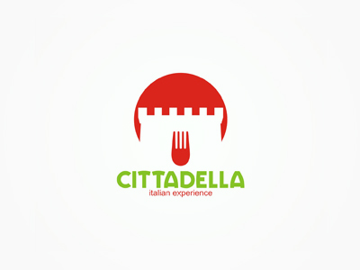 Cittadella italian cuisine restaurant logo design