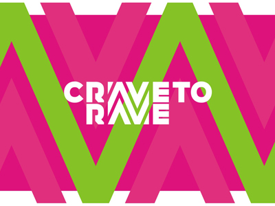 Crave to Rave edm fashion clothing apparel brand logo design