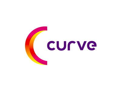 Curve animation studio logo design