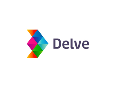 Delve indie games development geometric logo design