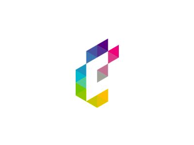 E + C monogram logo design symbol