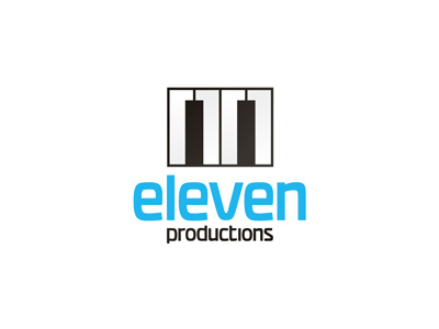 Eleven audio productions piano logo design