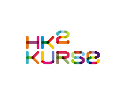 HK2 Kurse math economics education colorful logo design