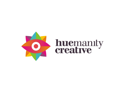 Huemanity Creative design studio advertising agency colorful logo design