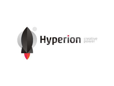 Hyperion design agency rocket logo design