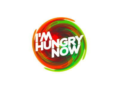 I'm Hungry Now swirl logo design