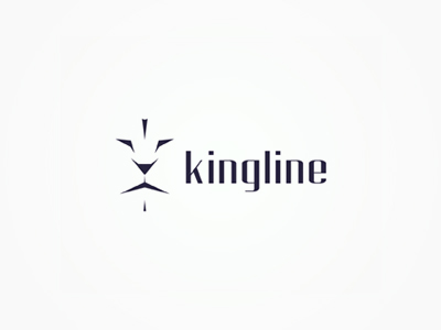 Kingline lion king logo design