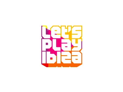 Let's play Ibiza edm news portal logo design