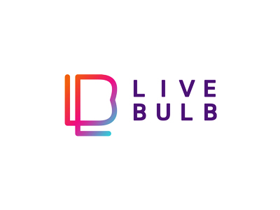 Live Bulb web design agency logo design
