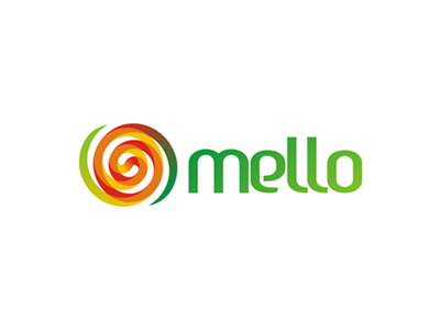 Mello melon fruits juice logo design