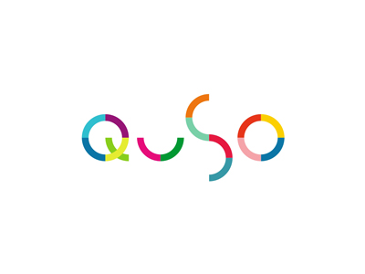 Quso colorful pet store shop logo design