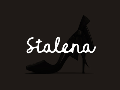 Stalena fashion shoes line creator designer logo design