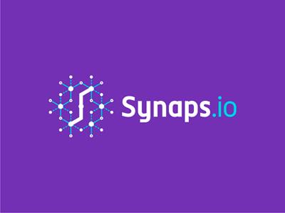 Synaps io synapses web saas api ipaas logo design