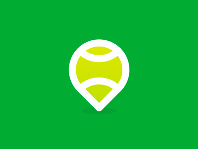 Tennis Place pin pointer map logo design symbol icon