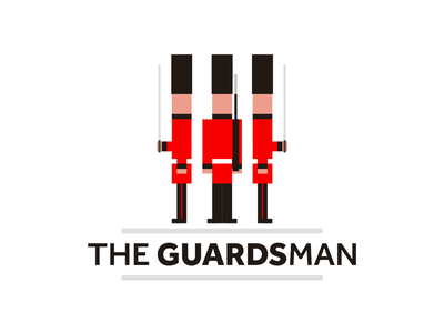 The Guardsman buckingham palace queens guards logo design
