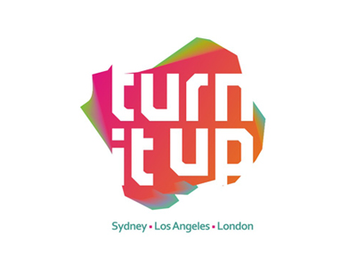 Turn It Up pr music management company logo design