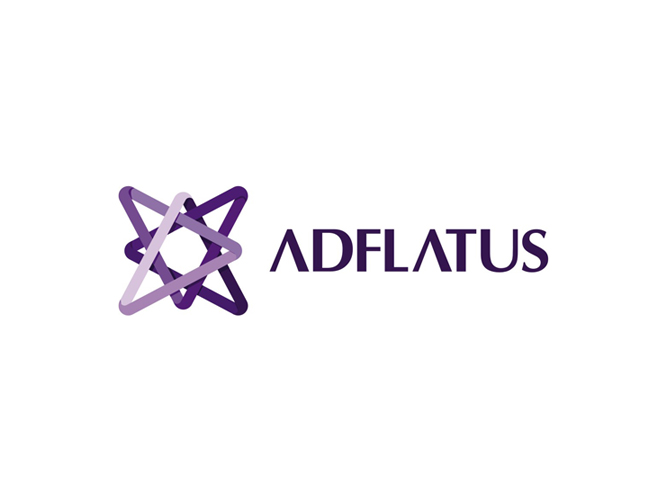 Adflatus interior design studio logo design by Alex Tass