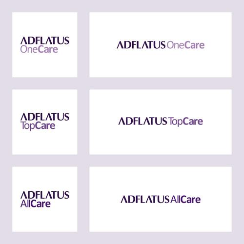 Adflatus interior design studio logo design sub-branding by Alex Tass