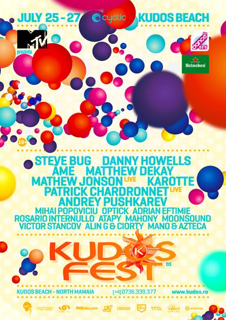 Kudos Fest 2014 festival Steve Bug Danny Howells Matthew Dekay flyer poster design by Alex Tass