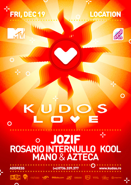 Kudos Love party series Jozif flyer poster design by Alex Tass