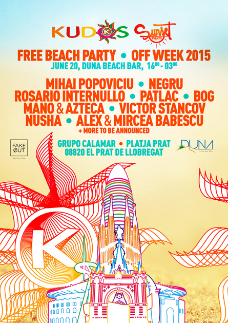 Kudos OFF Sonar Week Barcelona 2015 flyer poster design by Alex Tass