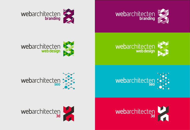 Webarchitecten Web Design Studio Online Advertising Logo Sub Branding