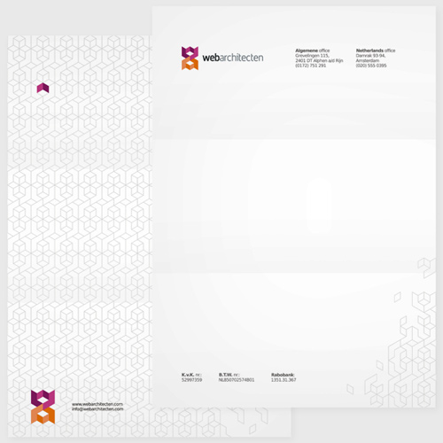 WebArchitecten web design studio online advertising stationery identity design