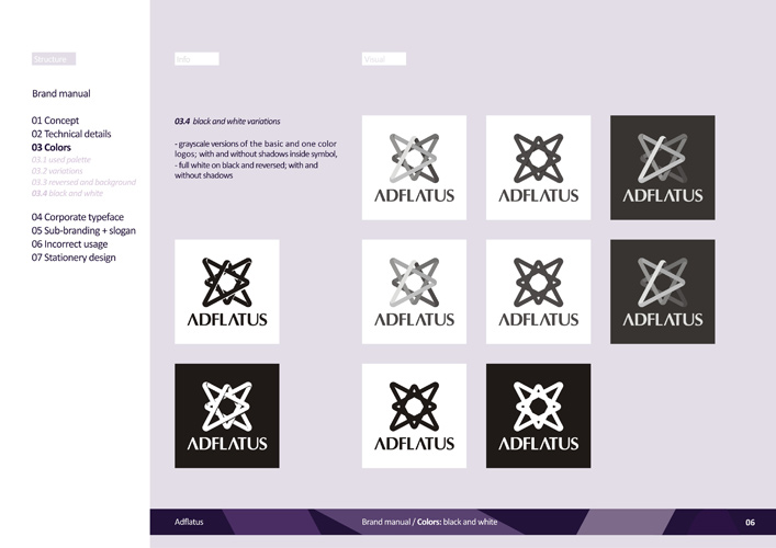 Adflatus brand manual developed by Alex Tass