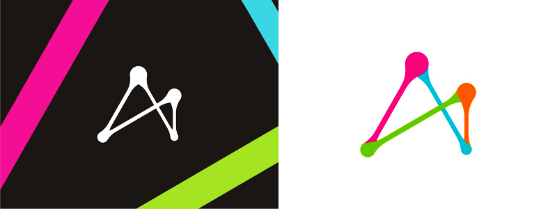 A letter mark, logo design symbol by alex tass