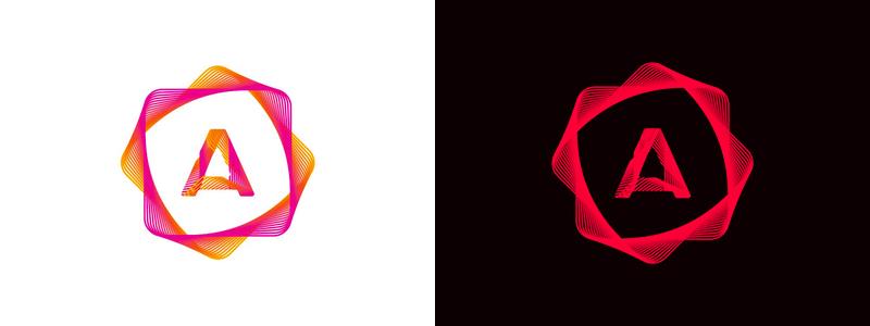 A, mobile apps developer logo design symbol by alex tass