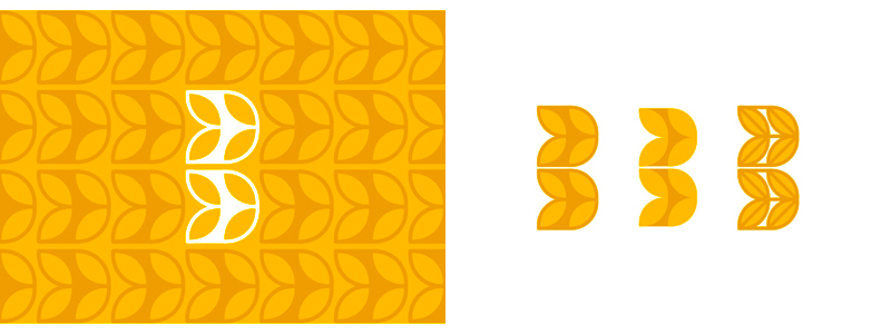 B for Bakery logo design symbol letter mark & pattern by alex tass