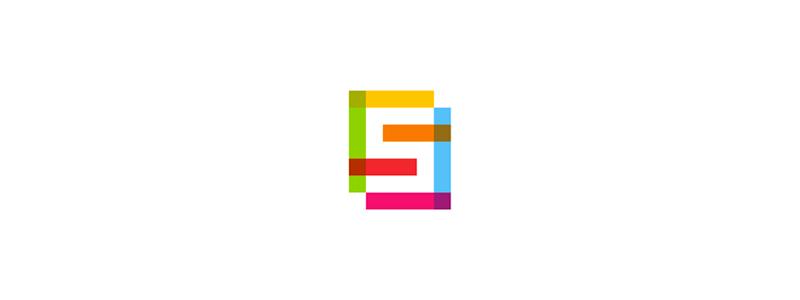 FS monogram, letter mark logo design symbol by alex tass