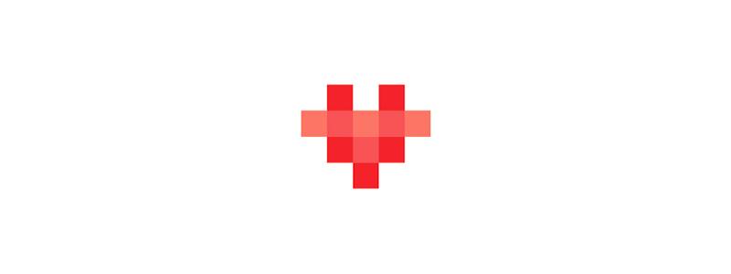 Giraffe + heart + pixels, loving giraffe logo design symbol by alex tass
