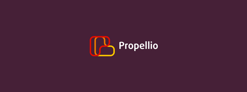 P propeller propellio limited logo design by alex tass