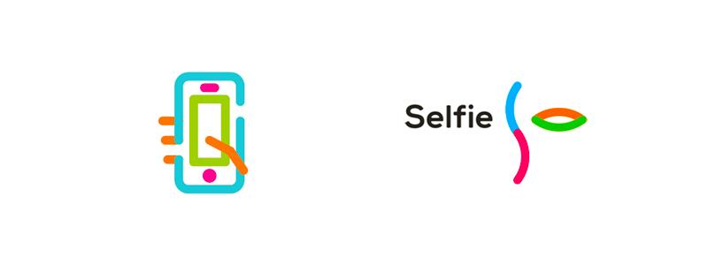 Selfie social network logo design by alex tass