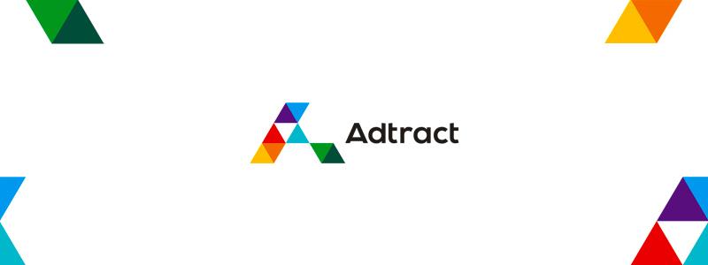 adtract transformative interactive advertising agency logo design by alex tass