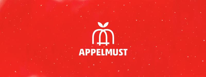 appelmust applemust apple juice logo design by alex tass
