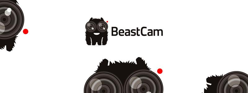 beast camera live streaming camera app logo design by alex tass