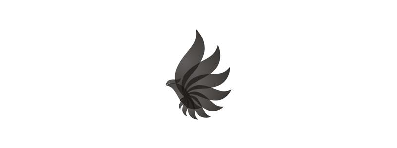 black bird energy phoenix high end luxury ceramics logo design by alex tass