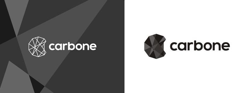 carbone carbon sport products logo design by alex tass
