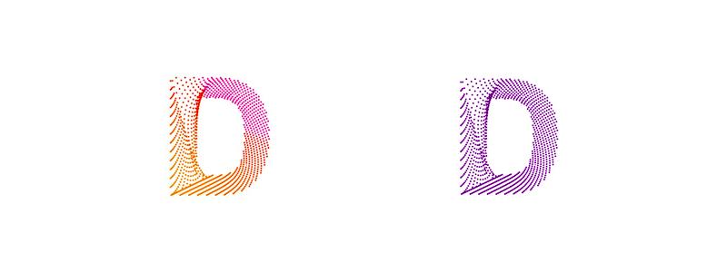 d monogram logo design symbol by alex tass