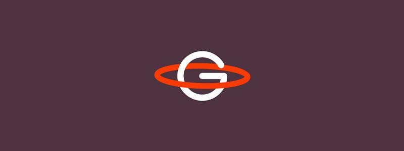 g monogram gravity saturn logo design symbol by alex tass
